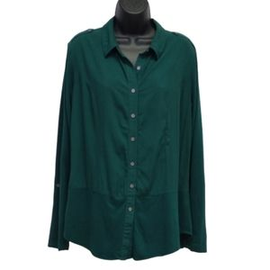 Two By Vince Camuto Button Down Blouse Sz. L